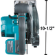 """Makita 18v LXT Lithium‑Ion Brushless Cordless 5‑7/8"""" Metal Cutting Saw w/Electric Brake & Chip Collector (Tool Only) XSC04Z"""