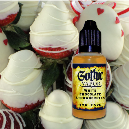 White chocolate strawberry flavored eLiquid by Gothic Vapor