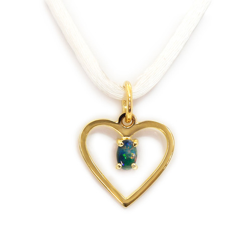 Lost Sea Opals heart shaped pendant