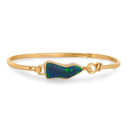 Lost Sea Opals 9k Black Opal Bangle
