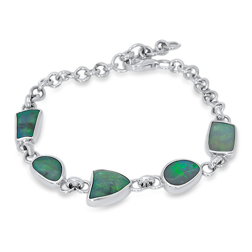 Lost Sea Opals Multi Stone Sterling silver Bracelet