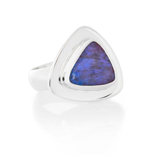 Purple Opal Ring -Sterling Silver