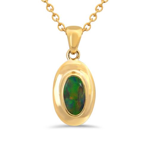 Black opal pendant - Lost Sea Opals