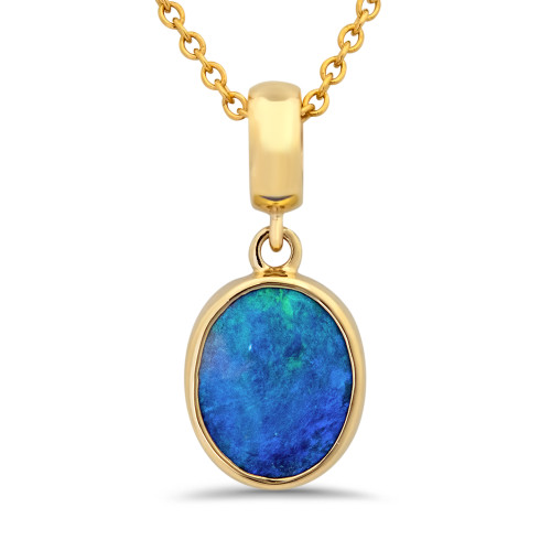 Lost sea Jewels - Black Opal Gold pendant