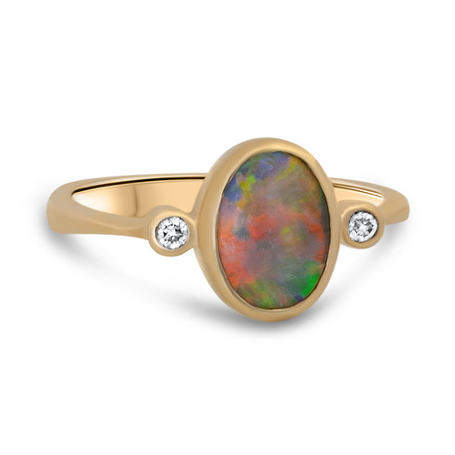 Orange opal ring - Lost Sea Opals