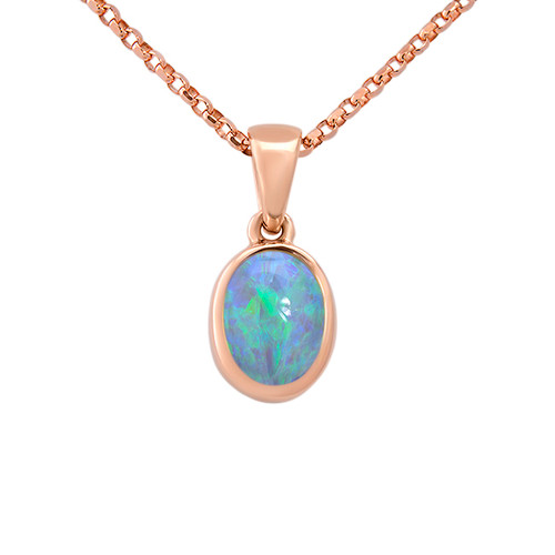 Light Opal - Lost sea Opals- 9k Rose gold