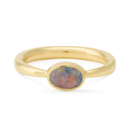 Dark Crystal Opal Ring, Lost Sea Opals