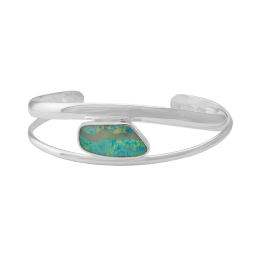 Sterling Silver Cuff with Boulder Opal