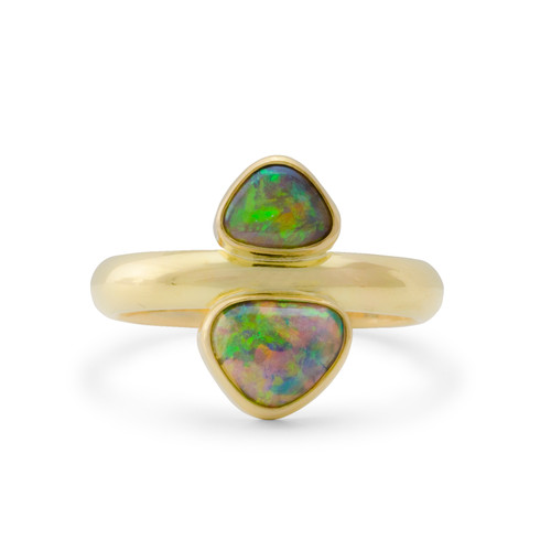 Lost Sea Opals Calypso Ring - 18k Gold Crystal Opal
