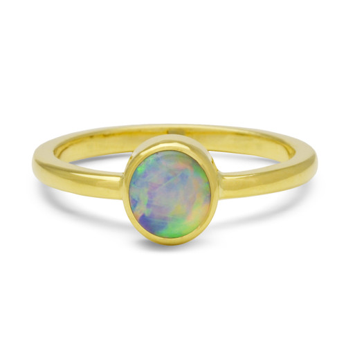 Lost Sea Opals Signature 7mm Round- 18k Gold Crystal Opal