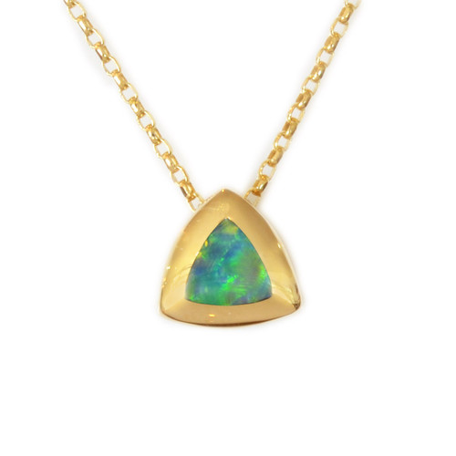 Lost Sea Opals - 9k gold opal inlay pendant