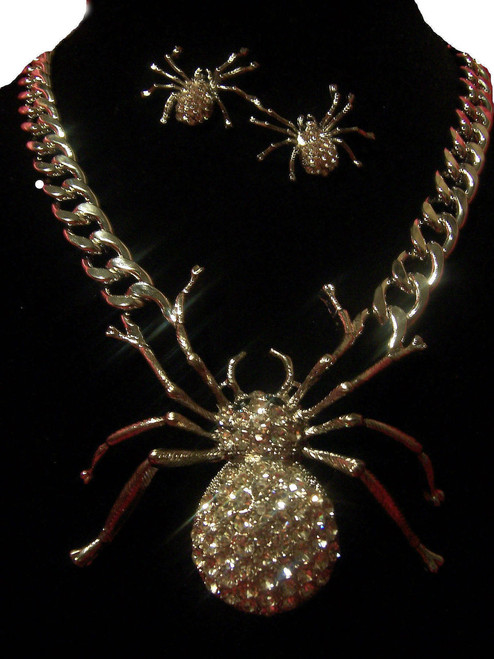 Spider Chain Necklace Set