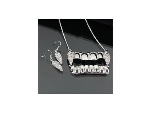 Dracula Teeth Necklace Set