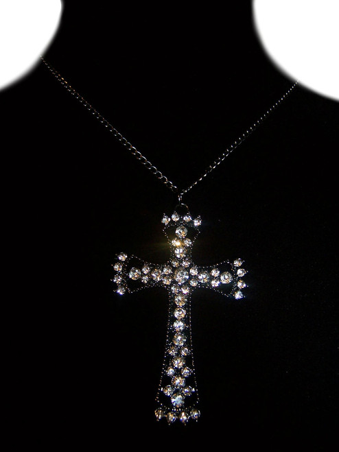 1 Piece Cross Rhinestone Necklace