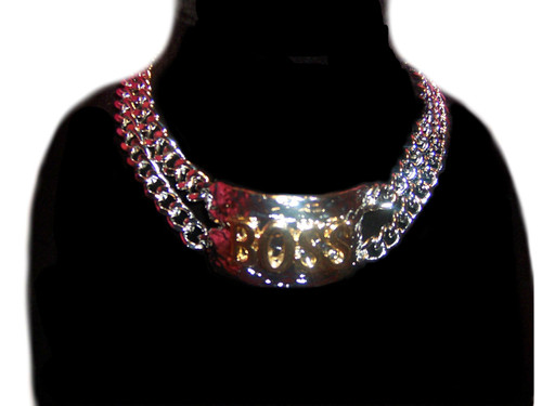 """Silver/Gold Tone, """"Boss"""" Chain Necklace"""