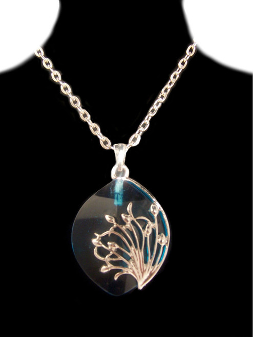 """Turquois Glass, """"Tree of Life"""" Necklace"""