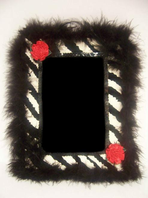 Black/White Zebra Print Picture Frame