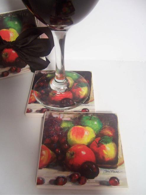 4- Piece Fruit Beverage Coast Set