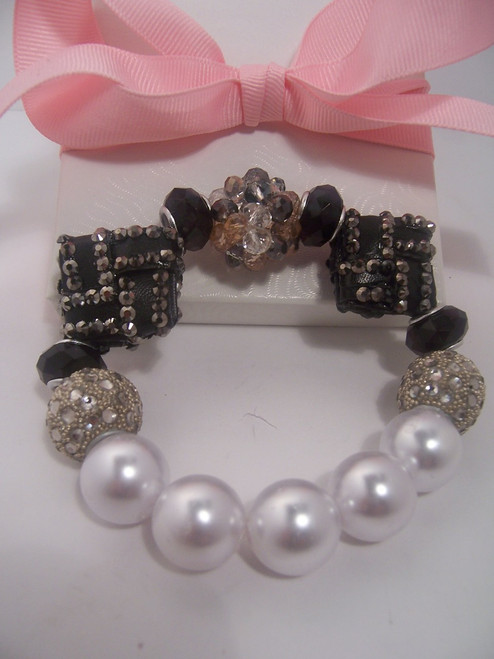 Stretch Black Beaded Bracelet