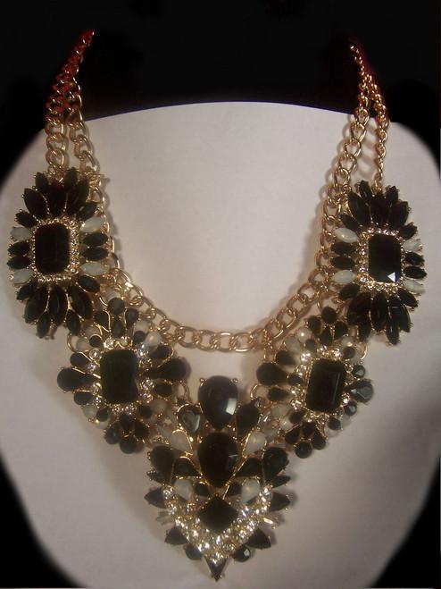 Black/Crystal Luxury Fashion Necklace