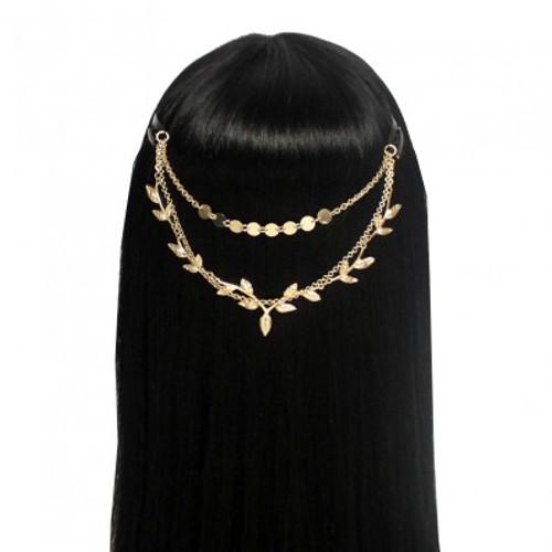 Gold Leaf Drop Head Chain