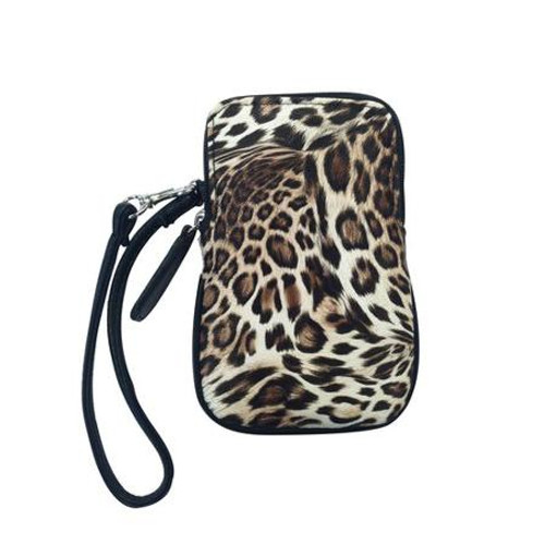 Cell Phone Leopard Wristlet