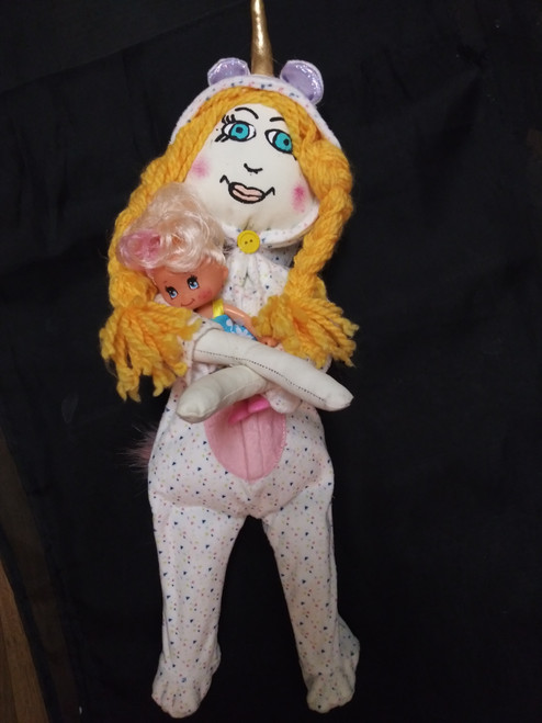 Baby Doll In Pajamas / Snuggle Doll/ Handmde Doll