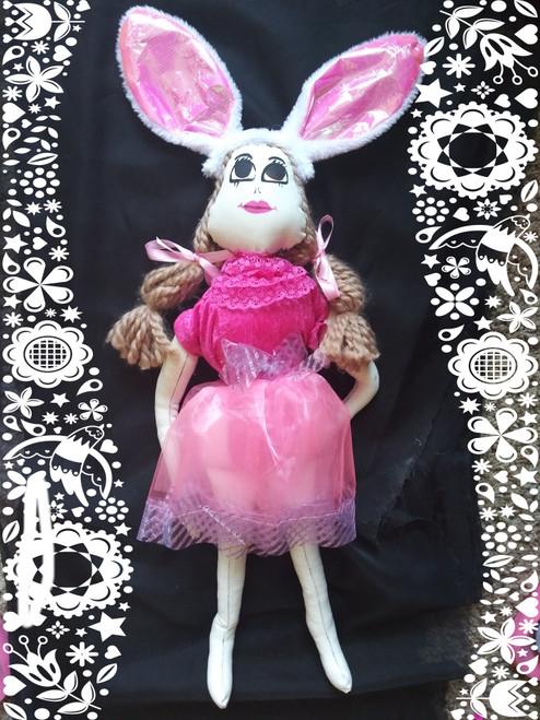 Pink Easter Bunny Rag Doll