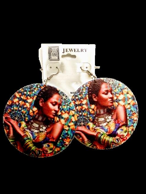 Black Lives Matter Multicolor Lady Earrings
