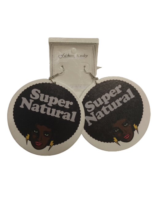 Black Lives Matter Super Natural Afro Earrings