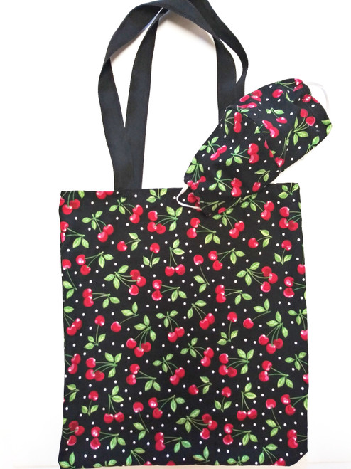 Black Cherry Mask and Tote Set