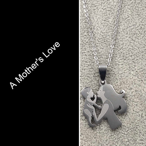 Mother Daughter Necklace With Baby/ Silver Color