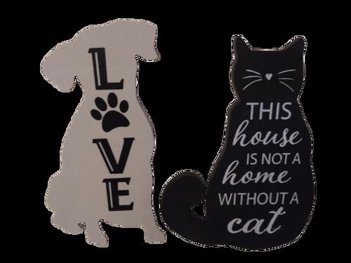 Dog & Cat  Wall Decor Set