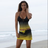 Ombre Swim Skirt  - Yellow (Large Only  Clearance)