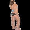 Mission Bay Bikini 2pc Set - Blue/Orange PWC Jetski Swimwear