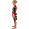 Kids Shattered Rashguard - Red (Closeout - Size 6 Only)