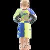 Boys Two Tone Shorts - Blue / Green PWC Jetski (Closeout)