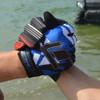 Shattered GP-30 Gloves - Blue PWC Jetski Ride & Race Gear