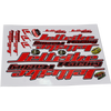 Decals - 12 X 18 -  Sticker Sheet Red PWC Jetski Ride & Race Accessories