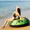 Mission Bay Tankini Top - Neon Green PWC Jetski Ride & Race Swimwear