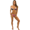 Havasu Thong Bikini 2pc Set - Fuscia/Black PWC Jetski Swimwear