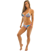 Casey Triangle Bikini 2pc set - Blue/Green/Pink PWC Jetski Swimwear