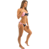 Sporty Spice Bikini 2pc Set - Pink PWC Jetski Ride & Race Swimwear