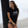 Ladies Logo Stack T-Shirt Black PWC Jetski Ride & Race Apparel