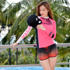 Ladies Cut Rashguard Newport - Pink PWC Jetski Ride & Race Apparel