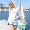 Sparkle Ladies Hoodie | White | PWC Jetski Ride & Race Apparel