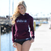 Sparkle Ladies Hoodie - Maroon PWC Jetski Ride & Race Apparel