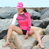 Ladies Bright Neon Pink Flat Brim Hat PWC Jetski Ride & Race Accessories