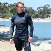 Hyper Rashguard Long Sleeve Shirt | Black | UV Protection Swim Shirt