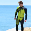 Hyper Green Wetsuit | 2 Piece Set | John & Jacket | PWC Jet Ski Ride & Race